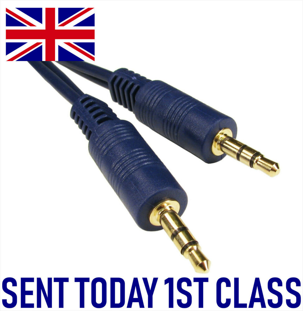 Stereo Speaker Cables : M stereo mm jack cable aux gold shielded audio lead