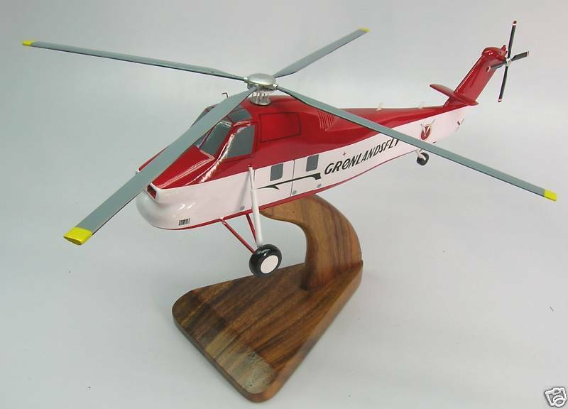 Elicottero S 58 : S sikorsky sea horse helicopter handcrafted wood model