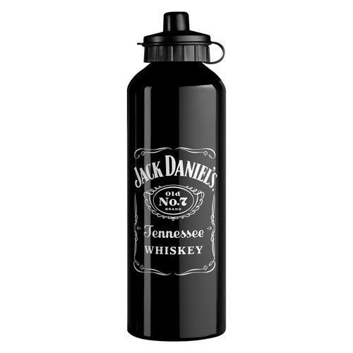 120696 jack daniels 750ml aluminium drink bottle ebay. Black Bedroom Furniture Sets. Home Design Ideas