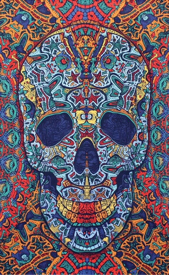 3D Skull Tapestry Beach Sheet Wall Hanging Fabric Poster ...