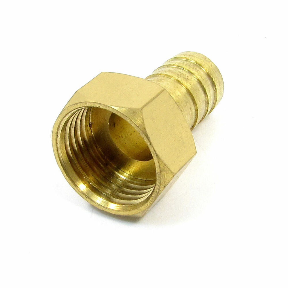 Quot pt female thread to mm air hose barb brass straight