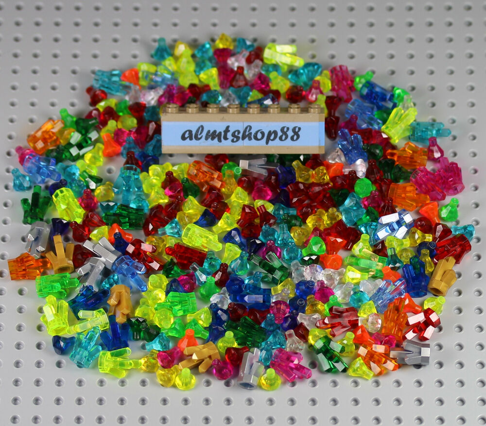 Lego Assorted Lot Crystals Rock Jewels Gems Treasure