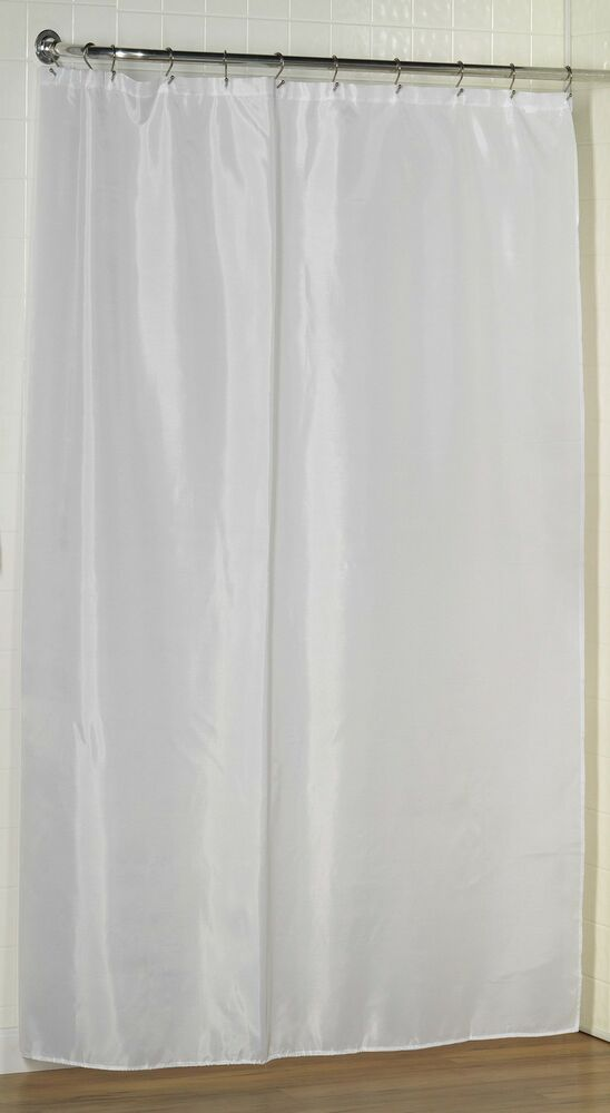 Fabric Shower Curtain Liner Extra Long 96 Long Shower Curtain Liner