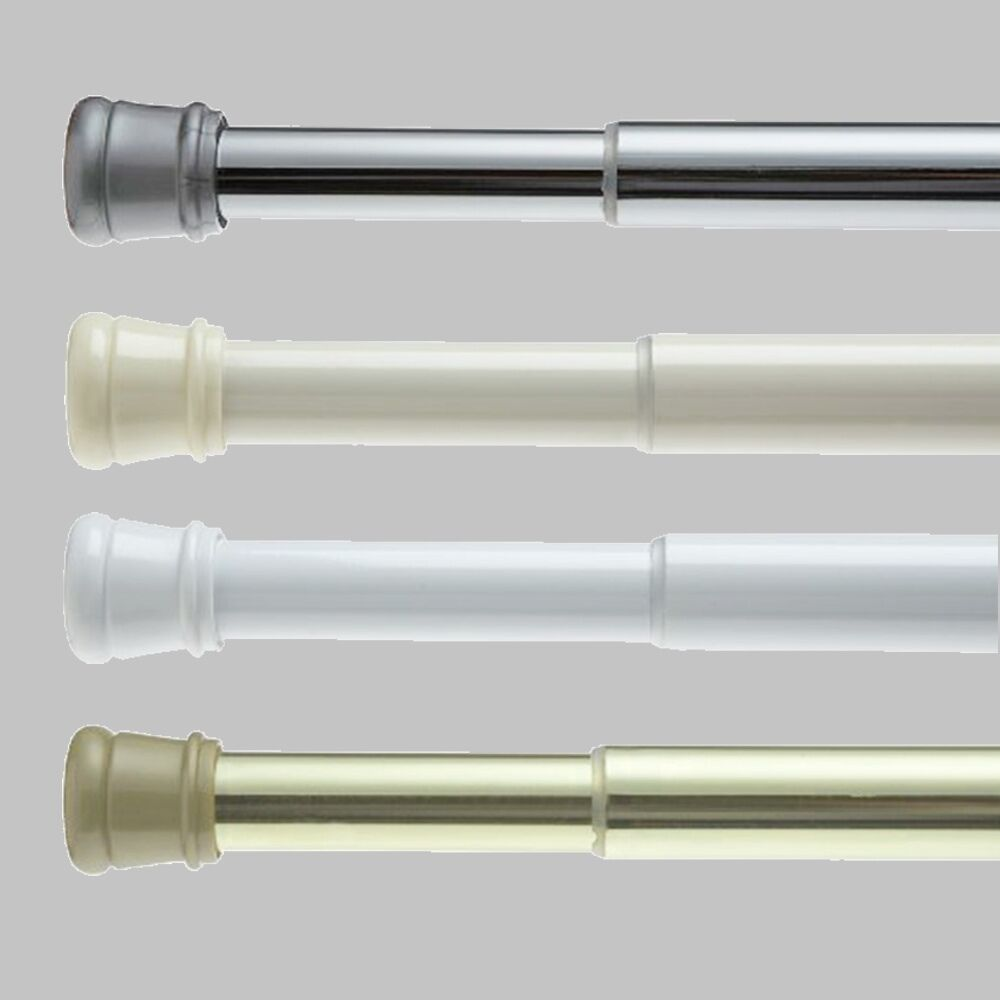 Stall Size Spring Tension Shower Window Closet Rod Adjustable 23 To 40 Ebay