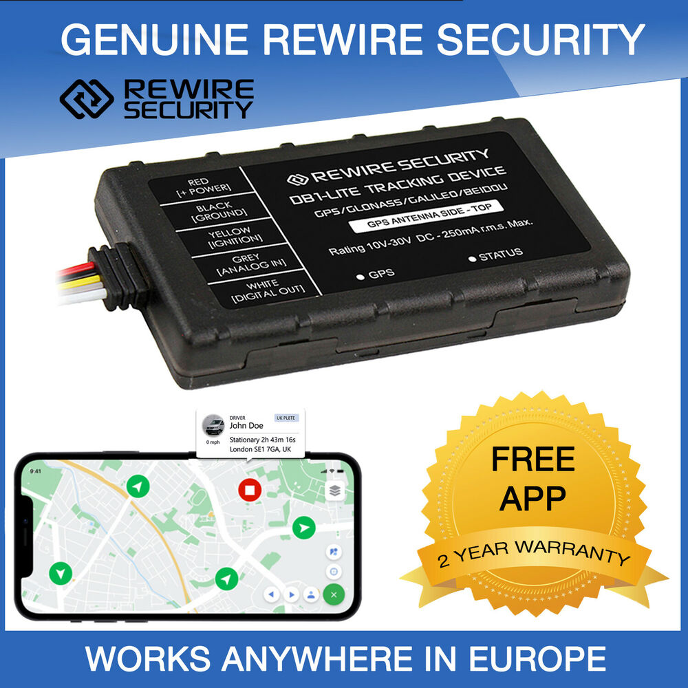 Gps Tracker Rewire Security 303 Fleet Vehicle Car Van