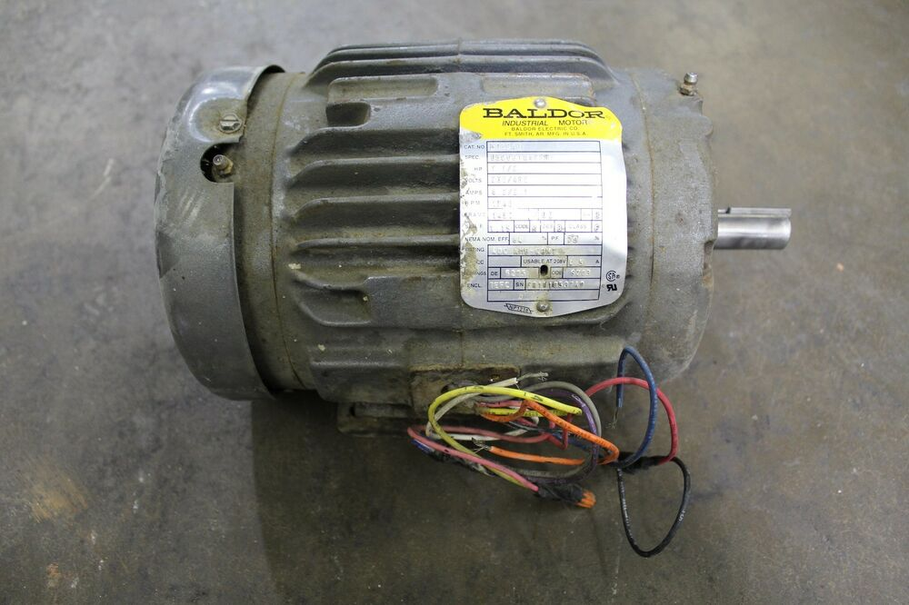 Baldor m3584t 1 1 2hp 1 1 2 hp 3ph electric motor 230 460v for 1 2 hp ac motor