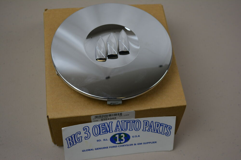 97 00 Buick Park Avenue 02 Lesabre Chrome Wheel Center Cap W Buick Shield New Oe Ebay