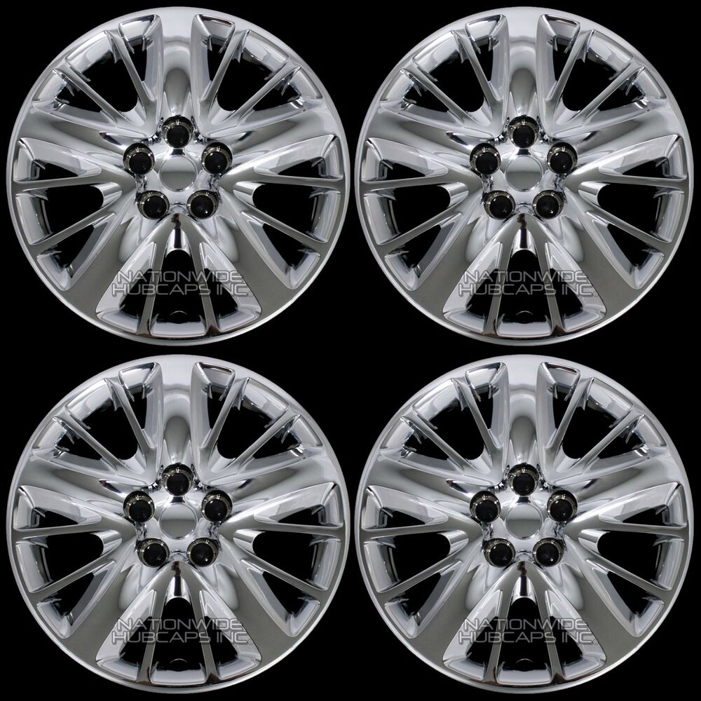 """2014 Ford Fusion Tires >> 4 New 2014-17 IMPALA LS 18"""" Chrome Bolt On Wheel Covers ..."""