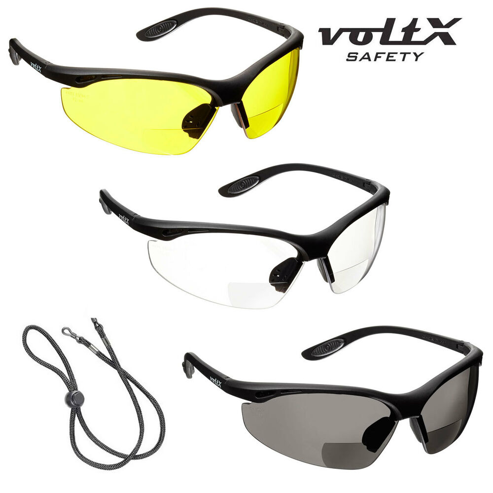 3 voltx constructor bifocal reading safety glasses 1xclear