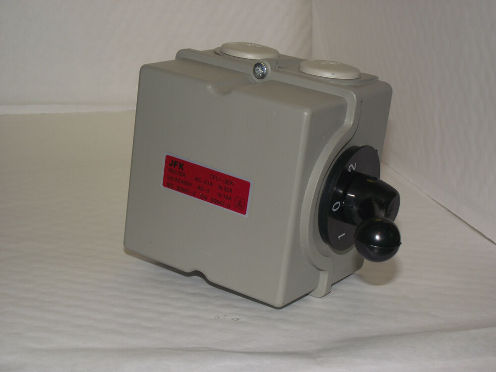 electric motor reversing switch single or 3 phase 32amp 4