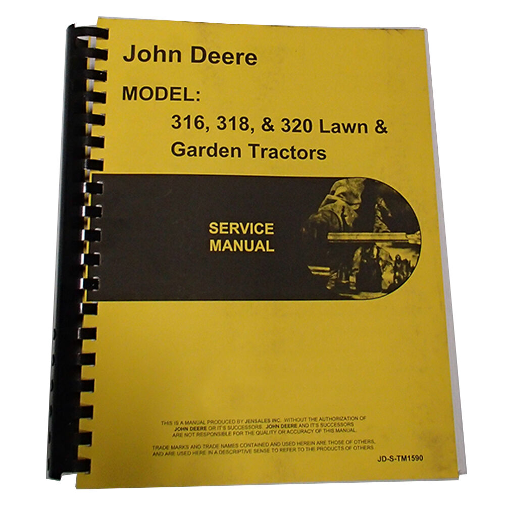 Tractor Manual Thickness : New service manual for john deere tractor ebay
