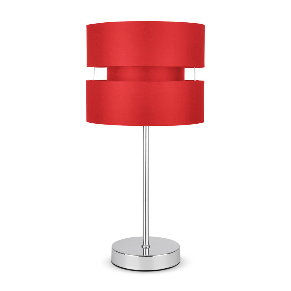 Modern Silver Chrome Red Touch Dimmer Bedside Table Lamp Lights Lamps New Ebay
