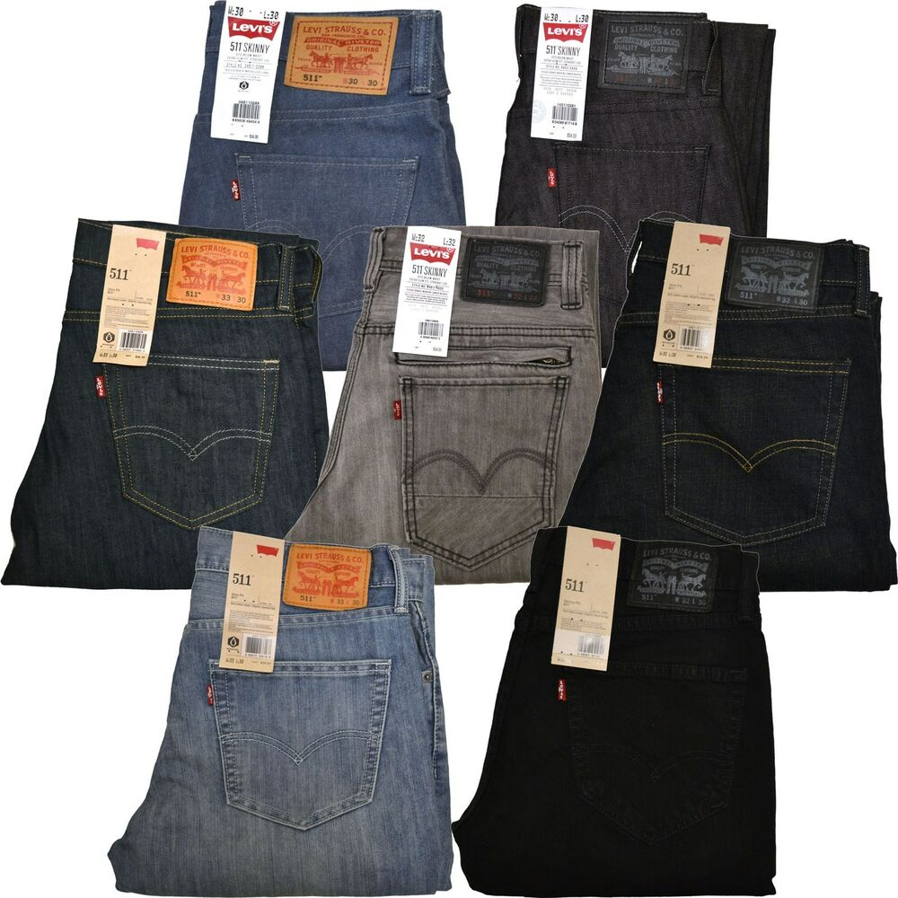 levis 511 jeans hautenge passform herren jeans dunkel hell. Black Bedroom Furniture Sets. Home Design Ideas