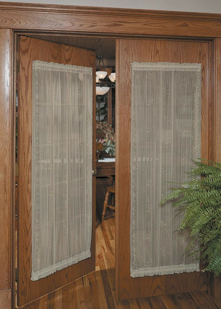 Heritage Lace Sheer Divine Door Panels Available In 4