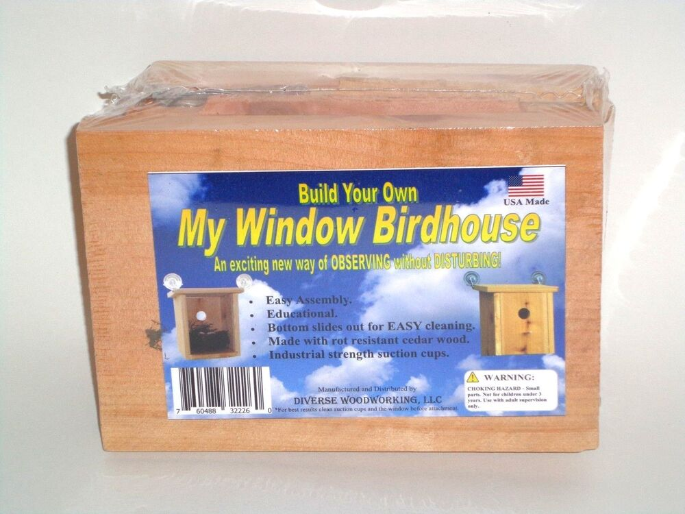 Build your own my window birdhouse kit window mount for Build your own window