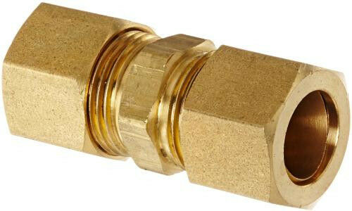 Compression union standard brass water gas oil air fuel