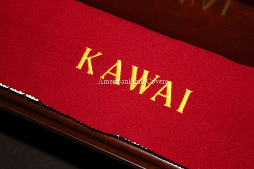 Kawai Piano Key Cover Red Felt Embroidered Keyboard