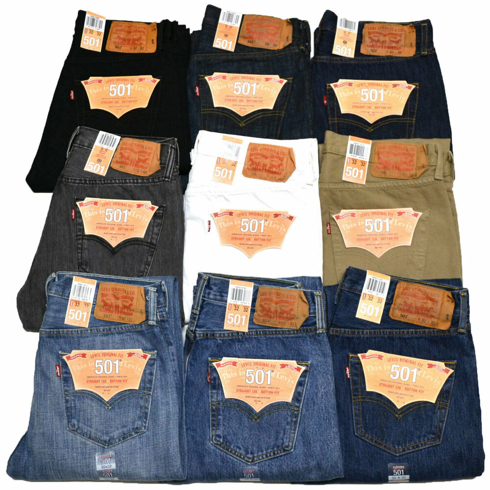 levis 501 jeans mens button fly stonewashed all sizes 29 30 31 32 33 34 36 38 ebay. Black Bedroom Furniture Sets. Home Design Ideas
