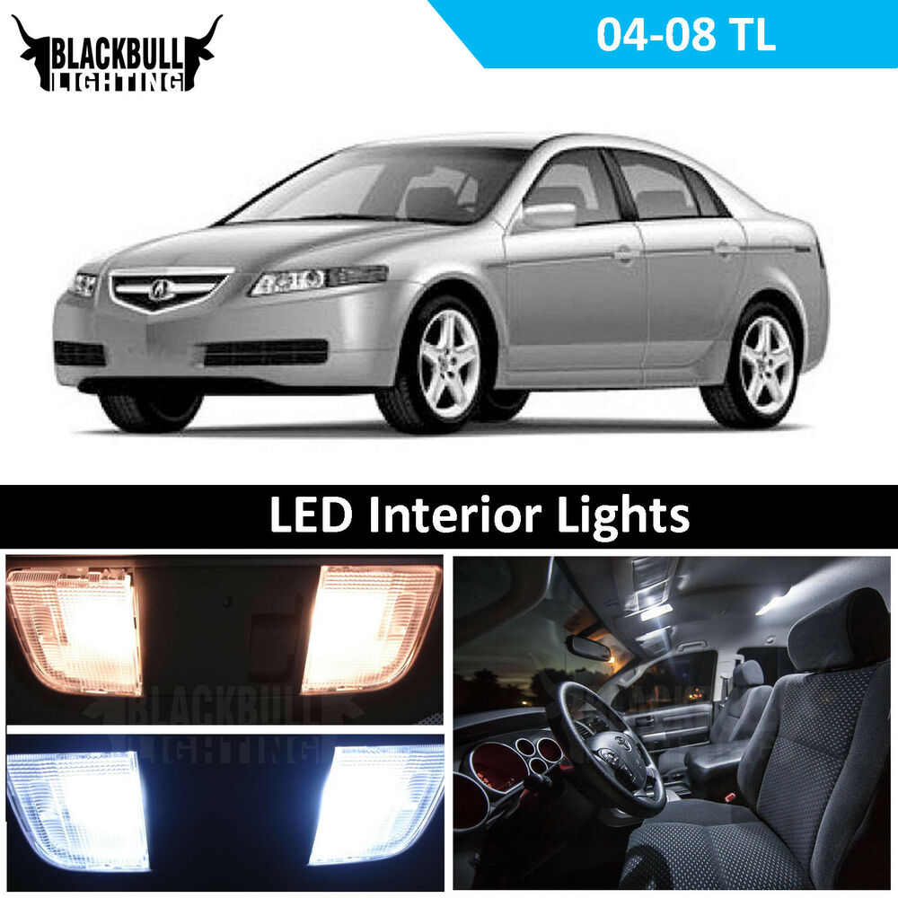 2004-2008 Acura TL Xenon White Interior LED Package Kit (9