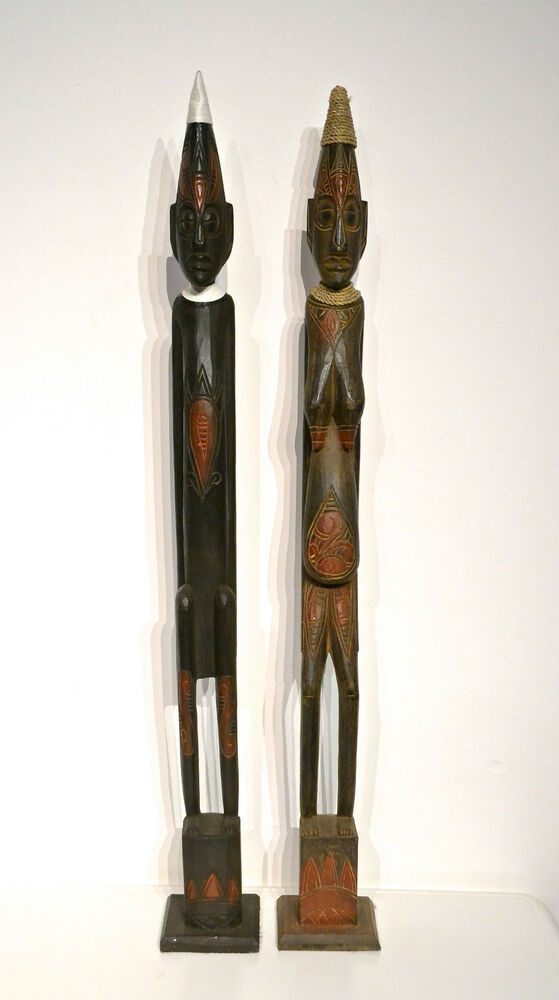 holz figuren mann und frau holz figuren holz deko figuren afrikanische kunst ebay. Black Bedroom Furniture Sets. Home Design Ideas
