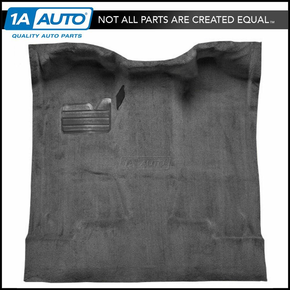83 Chevy Truck Dash Pad - Molded complete carpet 801 black cutpile for 88 98 chevy c1500 truck regular cab