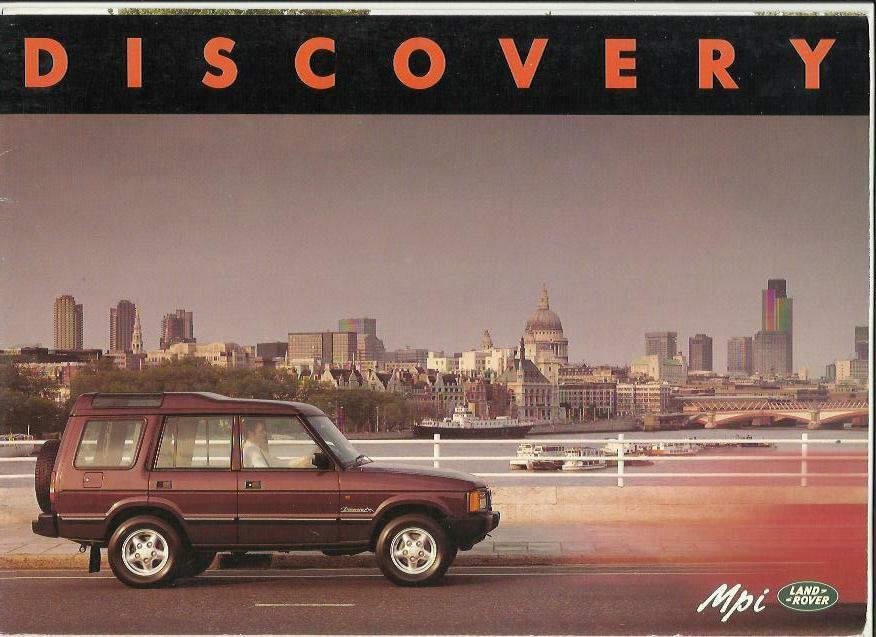 Land Rover Discovery Mpi 3 And 5 Door Sales Brochure 1991