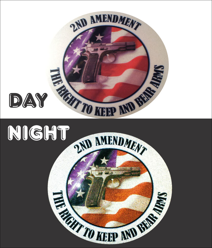 2nd Amendment Reflective Decal American Flag Gun Decal 5