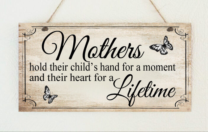 Beautiful Plaque Mum Child's Heart Nanny Mothers Day