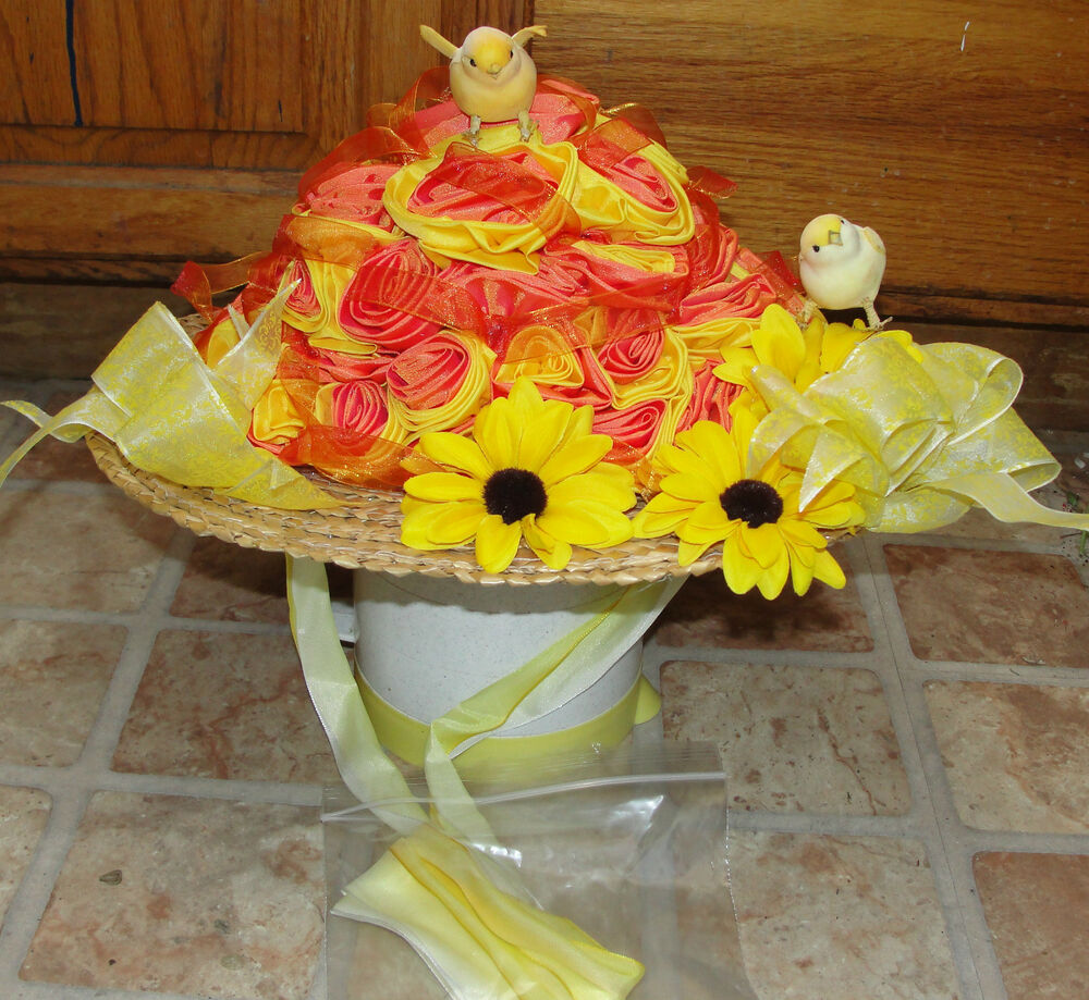 Deluxe Doll Girls Accessories Vintage Cloth Roses Easter Spring Chick Hat Decor Ebay