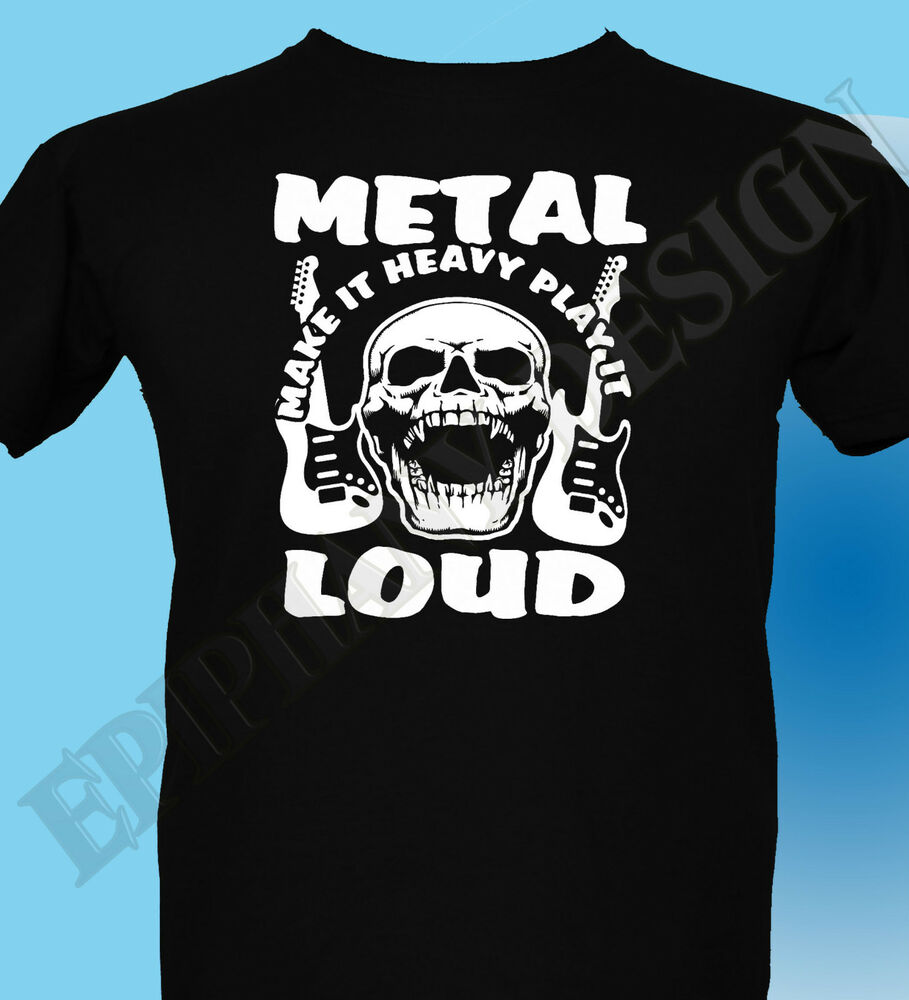 heavy metal t shirt rock hard metal design loud music. Black Bedroom Furniture Sets. Home Design Ideas