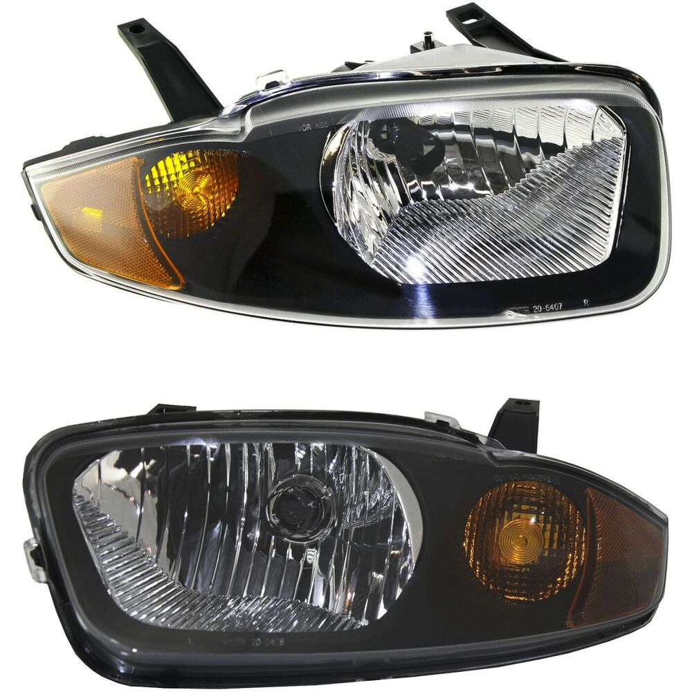 Details About Halogen Headlight Set For 2003 2005 Chevy Cavalier Left Right W Bulb S Pair