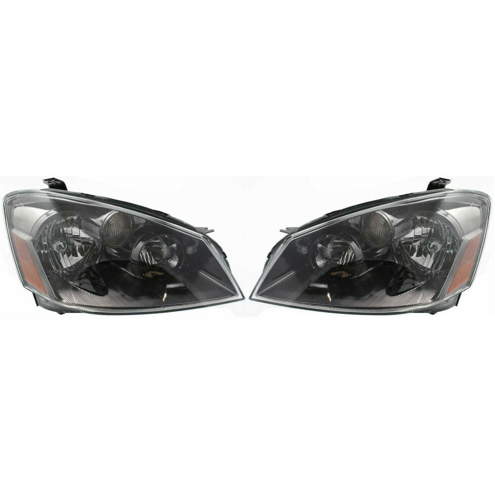 Headlights For 2006 Nissan Altima: Headlight Set For 2005-2006 Nissan Altima Driver And