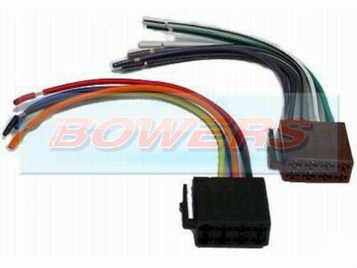 universal car radio/stereo bare wire to male iso connector ... car audio wiring block #14