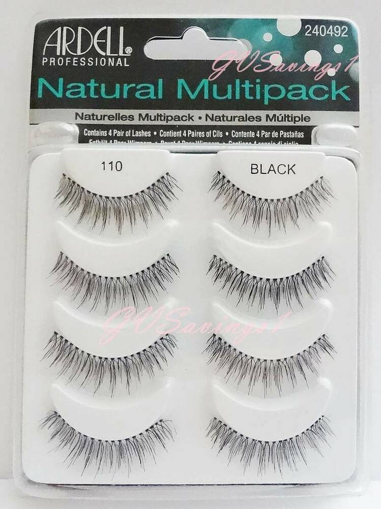 Ardell Natural Multipack False Eyelashes Black  Pairs