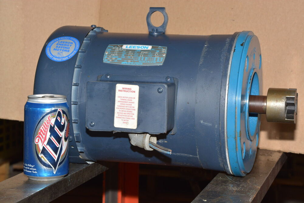 Leeson 1 5 hp 3 phase motor 1140 rpm f184tc 1 1 for 1 hp 3 phase motor