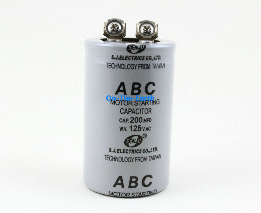 2 Pieces Electric Motor Start Capacitor Ac 125v 200 Mfd