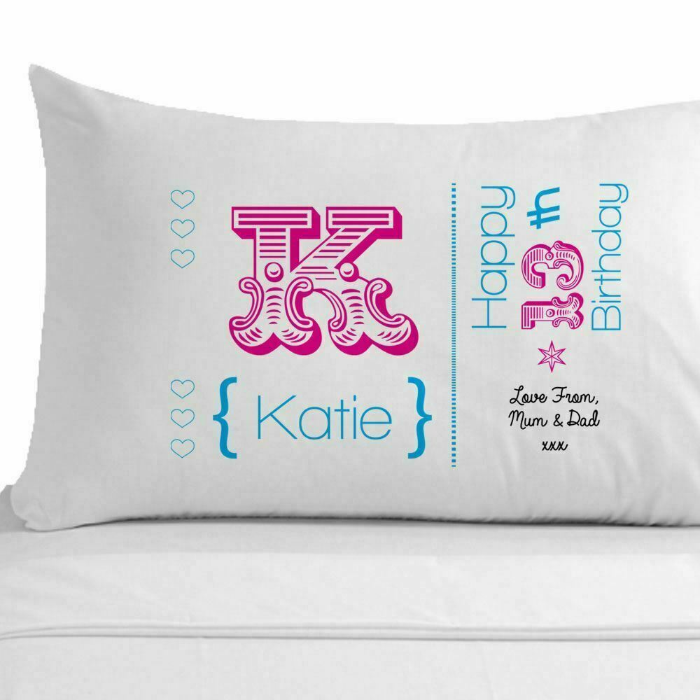 37 Unique Birthday Gifts For Her: Womens Personalised 60th Birthday Pillowcase, Unique 60th