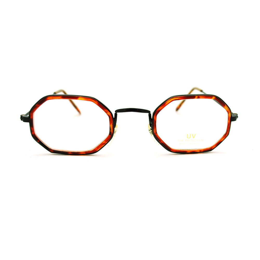 Old Eyeglass Frames New Lenses : Retro Vintage Classic Octagon Oval Clear Lens Eye Glasses ...