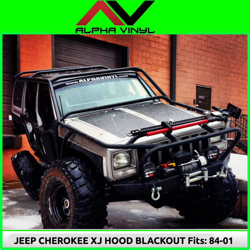 Jeep Cherokee Xj Bumpers >> Hood Blackout Decal Matte Black Out w/ install kit Fit: Jeep Cherokee XJ 84-01 | eBay