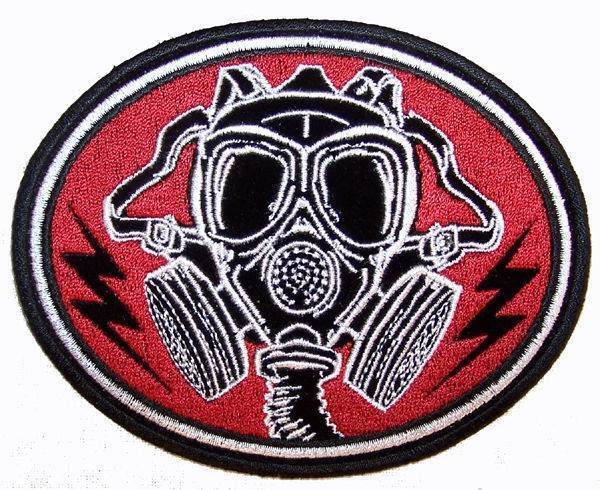 Gas mask high quality embroidered patch ebay