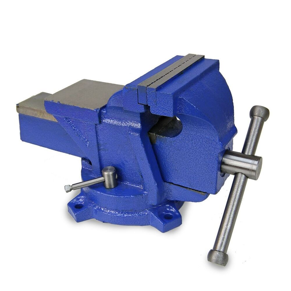 4 Bench Vise Clamp Tabletop Vises Swivel Locking Base Work Bench Top Cast Iron Ebay
