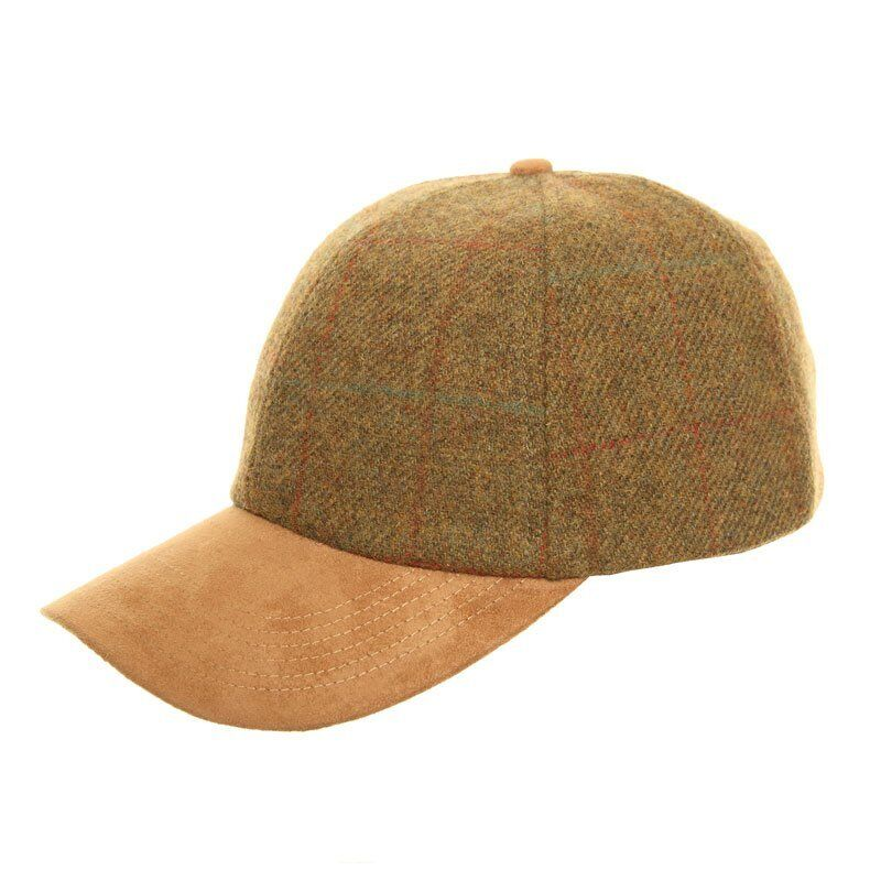 2dd53d0abbc Mens Ladies Unisex Tweed Baseball Cap Hat Faux Suede Peak One Size ...