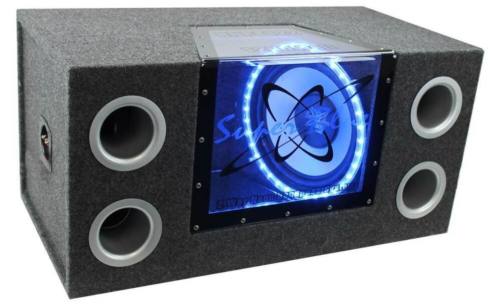 New pyramid bnps122 12 1200w car audio sub box subwoofer for Box subwoofer in vetroresina