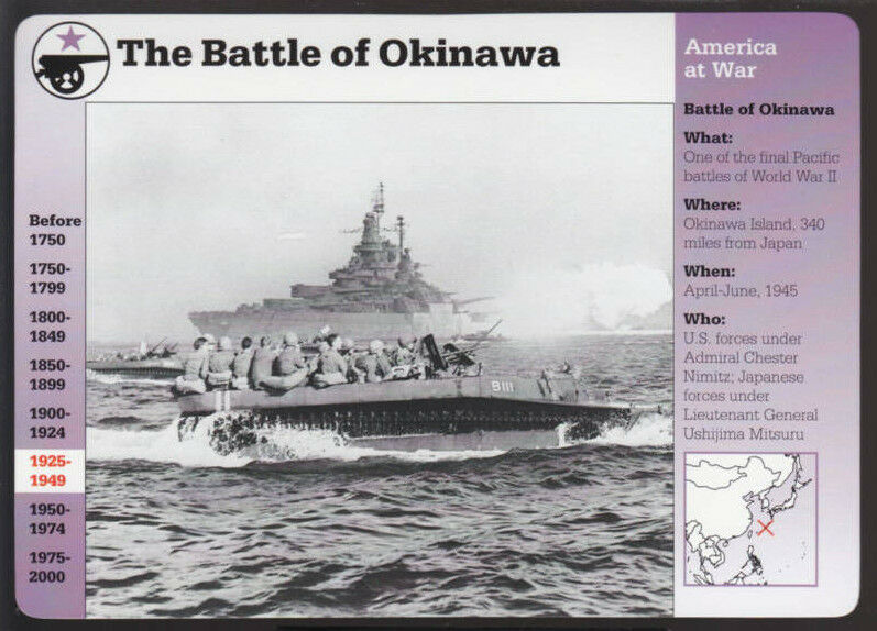 the battle of okinawa The battle of okinawa was fought april 1 to june 22, 1945, during world war ii and saw allied forces met fierce resistance for nearly three months.
