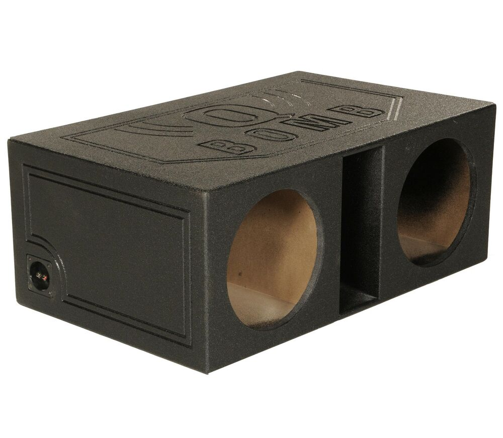 Q power qbomb12vl 12 dual vented ported car subwoofer sub for L ported sub box design