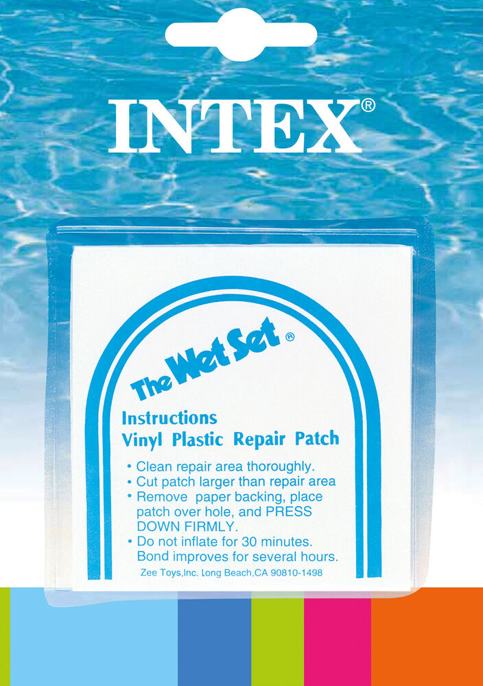 Intex Wet Set Adhesive Vinyl Plastic Repair Patch 6 Pack 59631ep Ebay