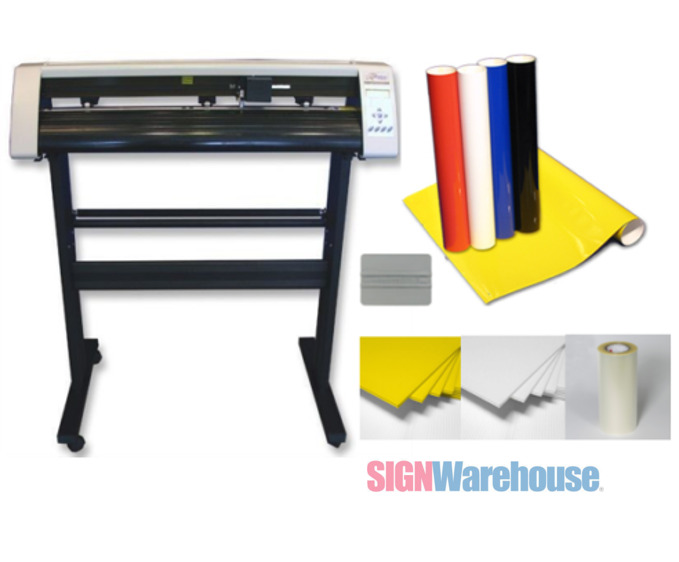 31 vinyl cutter machine w software vinly sign plotter great starter bundle kit ebay. Black Bedroom Furniture Sets. Home Design Ideas