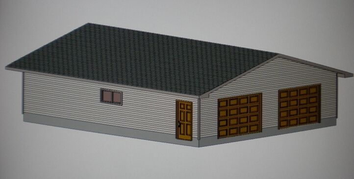 30 39 X 36 39 Garage Shop Plans Materials List Blueprints