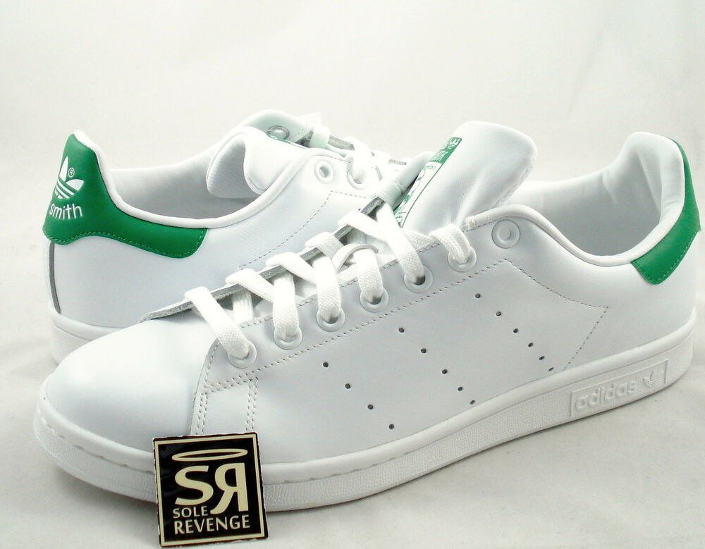 8264c64492b Details about New adidas Originals Men Stan Smith Shoes Running White  Fairway M20324 Green