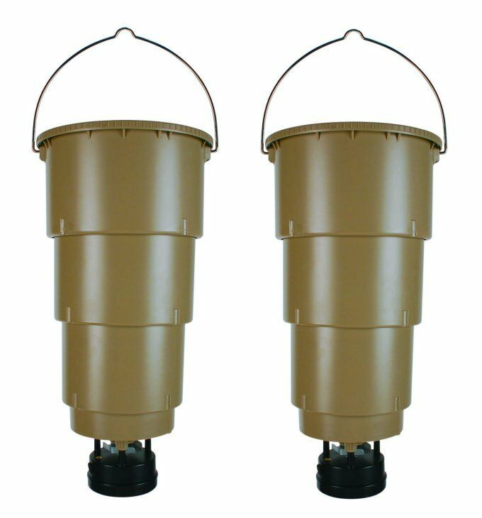 New 2 moultrie 5 gallon all in one hanging deer feeders for Moultrie fish feeder
